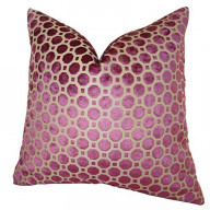 Plutus Velvet Geo Handmade Throw Pillow, (22