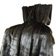Plutus Tip Dyed Brown-Mink Handmade Throw, (Throw 48W X 60L)