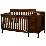 Kimberly Convertible Crib And Changer Espresso