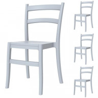 Tiffany Dining Chair Silver Gray