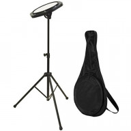 On-Stage Dfp5500 Drum Practice Pad With Stand &Amp; Bag