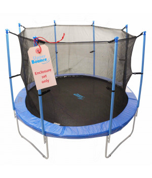 Trampoline Enclosure Set, To Fit 12 Ft. Round Frames, For 4 Or 8 W-Shaped Legs -Set Includes: Net, Poles & Hardware Only