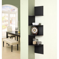 Hanging Corner Storage Black