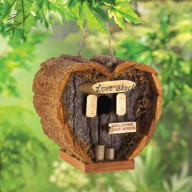 Heart-Shaped Love Shack Mini Bird House