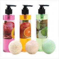 Shower Gels & Bath Fizzers in Fruit Scents