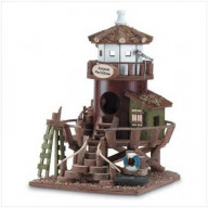Island Paradise Lighthouse Birdhouse