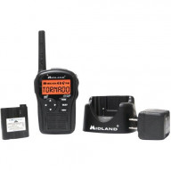 SAME Handheld Weather Radio, 9 Codes, Clock, Charger, AC Adapter