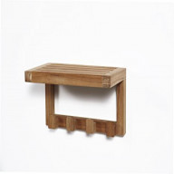 ARB Teak & Specialties - ARB SPA Teak Wall Shelf with 4 Hooks