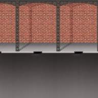 Mardi Gras Brick Wall & Street Backdrop (Pack Of 6)