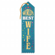 World'S Best Dad Award Ribbon (Pack Of 6)