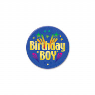 Birthday Boy Satin Button (Pack Of 6)