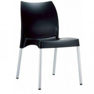 Vita Resin Outdoor Dining Chair Black