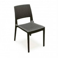 Verona Resin Wickerlook Dining Chair Brown