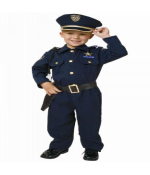 Award Winning Deluxe Police Dress Up Costume Set - Large 12-14