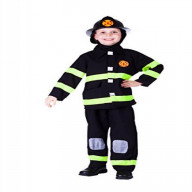 Deluxe Fire Fighter Dress Up Costume Set - Small 4-6