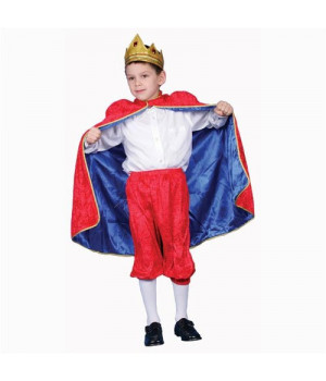 Deluxe Royal King Dress Up Costume - Red - Large 12-14