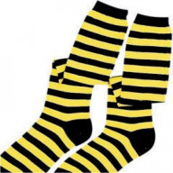 Black and Yellow Socks (Item packed by the dozen)