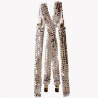 Silver Sequined Suspenders