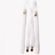 White Sequined Suspenders