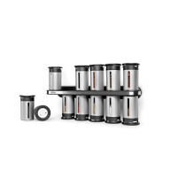 KCH-06100 Zero Gravity Wall-Mount Magnetic Spice Rack 12 / 1.75 oz. Canisters