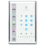 Interlogix NetworX Advanced Touch LED Keypad, Portrait, White