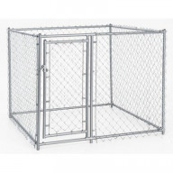 Lucky Dog 4'H x 5'W x 5'L Galvanized Chain Link w/PC Frame, kit in a box