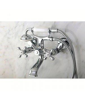 Kingston Brass Victorian Tub Wall Mount Clawfoot Tub Filler with Hand Shower