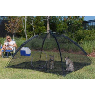 ABO 10672 BLACK HAPPY HABITAT POP UP MESH TENT WITH SAFETY