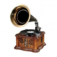 PYLE PUNP33BT VINTAGE STYLE TURNTABLE PHONOGRAPH WITH