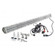 White 4D 240W 40 Inch Light Bar Spot Flood Combo Led Off Road 4X4 4Wd Race Truck