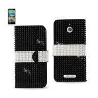 Diamond Flip Case HTC Desire 510 BLACK