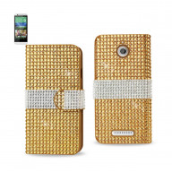 Diamond Flip Case HTC Desire 510 GOLD