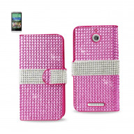 Diamond Flip Case HTC Desire 510 PINK