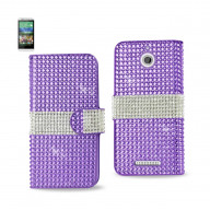 Diamond Flip Case HTC Desire 510 PURPLE