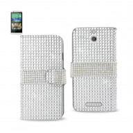 Diamond Flip Case HTC Desire 510 SILVER