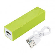 POWER BANK 2200mAh with 25cm micro USB cable GREEN