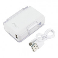 POWER BANK 4000mAh with 25cm micro USB cable WHITE