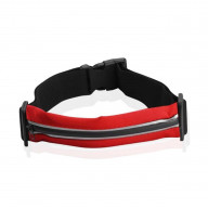 SPORT WAIST BAG WITH REFLECTIVE STRIP- RED