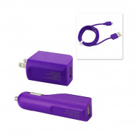 3IN1 CHARGER WITH DATA CABLE FOR V9 / MICRO-USB PURPLE