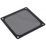 Black, Plastic Ultra Fine Fan Filter with Magnet for 140mm Case Fan, air vent