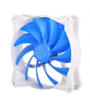 140x140x25mm / Mixed blue blade design with white frame / 4pin fan with PWM/ PCF bearing