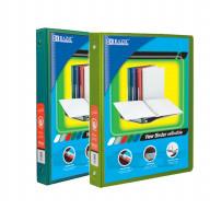 BAZIC 1/2 Inch 3-Ring View Binder with 2-Pockets (Case pack of 24 consist 12-Green & 12-Lime Green)