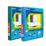 BAZIC 1/2 Inch 3-Ring View Binder with 2-Pockets (Case pack of 24 consist 12-Green & 12-Cyan)