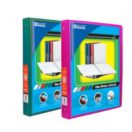 BAZIC 1/2 Inch 3-Ring View Binder with 2-Pockets (Case pack of 24 consist 12-Green & 12-Fuschia)