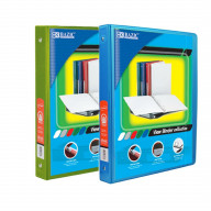 BAZIC 1/2 Inch 3-Ring View Binder with 2-Pockets (Case pack of 24 consist 12-Lime Green & 12-Cyan)