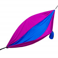 Two Person Parachute Camping Hammock with Tree Ropes Blue/Purple
