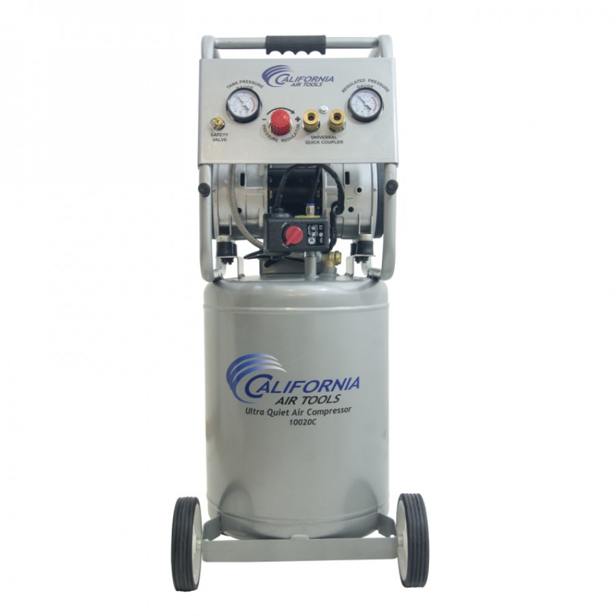 California Air Tools 10020C Ultra Quiet & Oil-Free 2.0 Hp, 10.0 Gal. Steel Tank Air Compressor