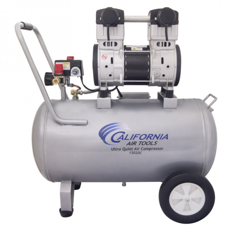 California Air Tools 15020C Ultra Quiet & Oil-Free 2.0 Hp, 15.0 Gal. Steel Tank Air Compressor