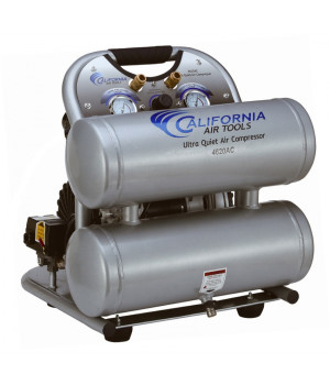 California Air Tools 4620AC Ultra Quiet & Oil-Free 2.0 Hp, 4.0 Gal. Aluminum Twin Tank Air Compressor