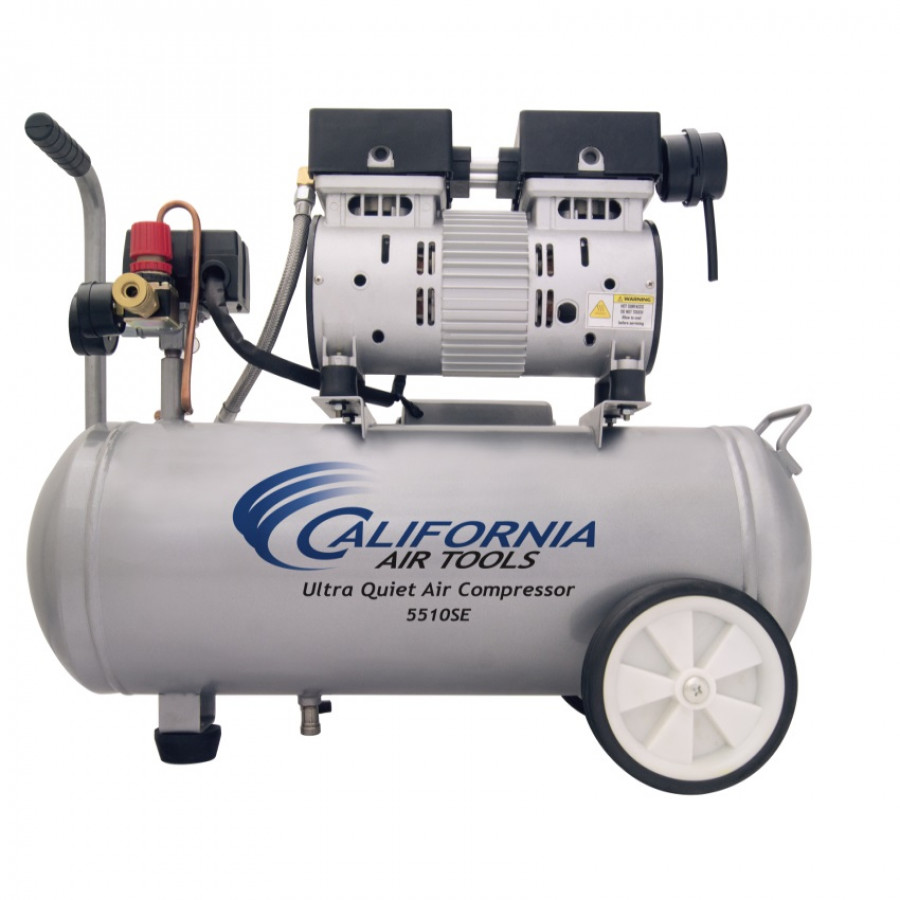 California Air Tools 5510SE Ultra Quiet & Oil-Free 1.0 Hp, 5.5 Gal. Steel Tank Air Compressor